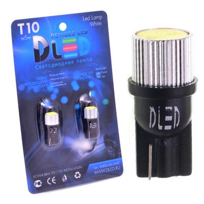 Светодиодная авто лампа W5W T10 – 1 HP Black 1.5Вт Белая