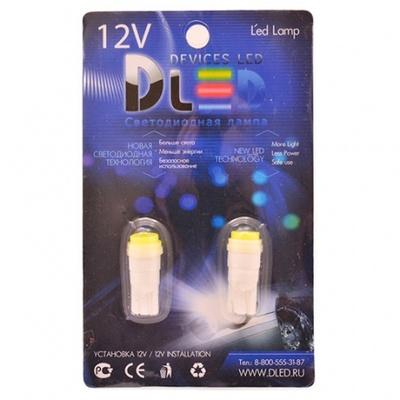 Светодиодная авто лампа W5W T10 – 1 COB Керамика 1Вт Белая