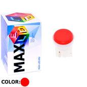 Светодиодная авто лампа W5W T10 – 1 Max-COB 1Вт Красная