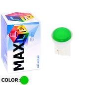 Светодиодная авто лампа W5W T10 – 1 Max-COB 1Вт Зелёная