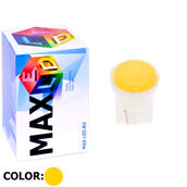 Светодиодная авто лампа W5W T10 – 1 Max-COB 1Вт Жёлтая