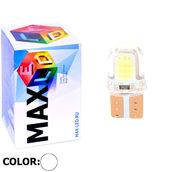 Светодиодная авто лампа W5W T10 – Max-COB Silica PCB 1Led 1Вт Белая