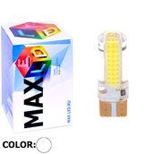 Светодиодная авто лампа W5W T10 – Max-COB Silica PCB 1Led 2Вт Белая