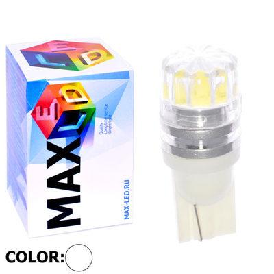 Светодиодная авто лампа W5W T10 – 1 Max-Cristal 2Вт Белая