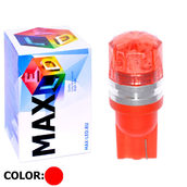 Светодиодная авто лампа W5W T10 – 1 Max-Cristal 2Вт Красная