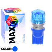 Светодиодная авто лампа W5W T10 – 1 Max-Cristal 2Вт Синяя