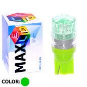Светодиодная авто лампа W5W T10 – 1 Max-Cristal 2Вт Зелёная
