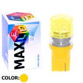 Светодиодная авто лампа W5W T10 – 1 Max-Cristal 2Вт Жёлтая