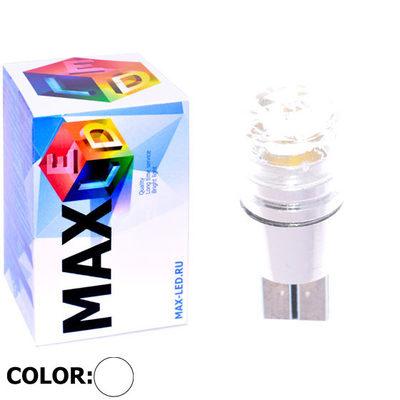 Светодиодная авто лампа W5W T10 – 1 Max-Cristal 3Вт Белая
