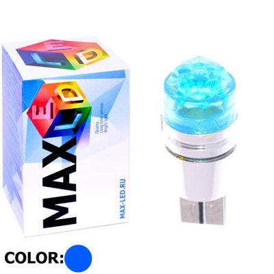 Светодиодная авто лампа W5W T10 – 1 Max-Cristal 3Вт Синяя