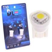 Светодиодная авто лампа W5W T10 – 1 SMD5050 0.24Вт Белая