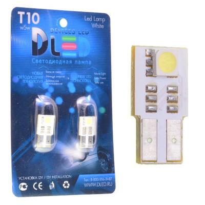 Светодиодная авто лампа W5W T10 – 1 SMD5050 Односторонняя 0.24Вт Белая