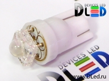 Светодиодная авто лампа W5W T10 – 1 Super Flux 0.1Вт Белая