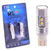 Светодиодная авто лампа W5W T10 – Max-Samsung Chip 10Led Линза 10Вт Белая