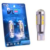 Светодиодная авто лампа W5W T10 – 10 SMD5630 Линза Обманка 4Вт Белая