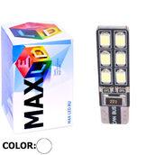 Светодиодная авто лампа W5W T10 – Max-Hill 12Led 4Вт Белая