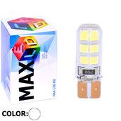 Светодиодная авто лампа W5W T10 – Max-Hill Silica 12Led 3Вт Белая