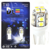 Светодиодная авто лампа W5W T10 – 12 SMD3528 1Вт Белая