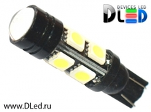 Светодиодная авто лампа W5W T10 – 1w 8 SMD5050 3.16Вт Белая