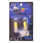 Светодиодная авто лампа W5W T10 – 2 COB PCB 1Вт Белая