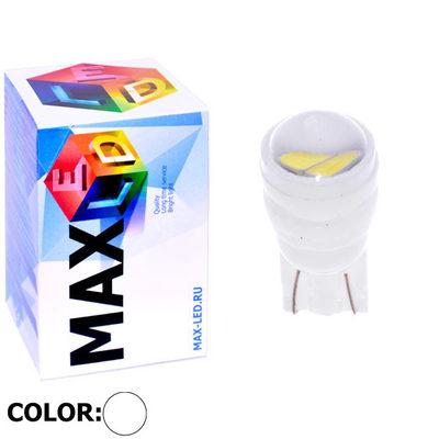 Светодиодная авто лампа W5W T10 – Max-Ceramic C 2Led 3Вт Белая