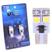 Светодиодная авто лампа W5W T10 – 2 SMD5050 Односторонняя 0.48Вт Белая