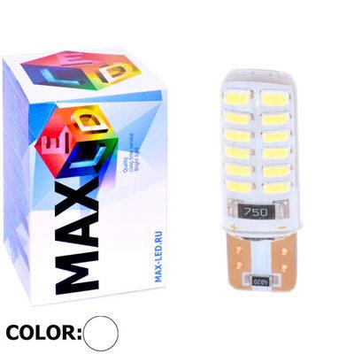 Светодиодная авто лампа W5W T10 – Max-Lendigo Silica 24Led 3Вт Белая