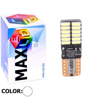 Светодиодная авто лампа W5W T10 – Max-Visico 24Led 5Вт Белая