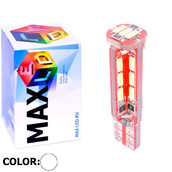 Светодиодная авто лампа W5W T10 – Max-Visico 27Led 6Вт Белая