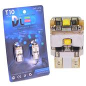 Светодиодная авто лампа W5W T10 – 3 Cree 9Вт Белая