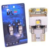 Светодиодная авто лампа W5W T10 – Max-Samsung Chip 3Led Обманка 3Вт Белая