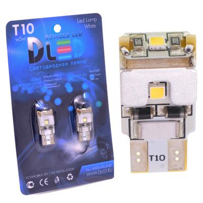 Светодиодная авто лампа W5W T10 – 3 SAMSUNG Обманка 3Вт Белая
