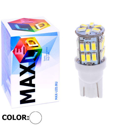 Светодиодная авто лампа W5W T10 – Max-Lendigo B 30Led 2Вт Белая