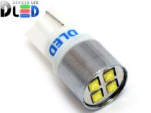 Светодиодная авто лампа W5W T10 – 4 CREE 20Вт Белая
