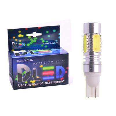 Светодиодная авто лампа W5W T10 – 4 HP Сree11Вт Белая
