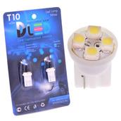 Светодиодная авто лампа W5W T10 – 4 SMD3528 0.32Вт Белая