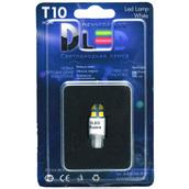 Светодиодная авто лампа W5W T10 – 4 SMD3528 Односторонняя 1.92Вт Белая