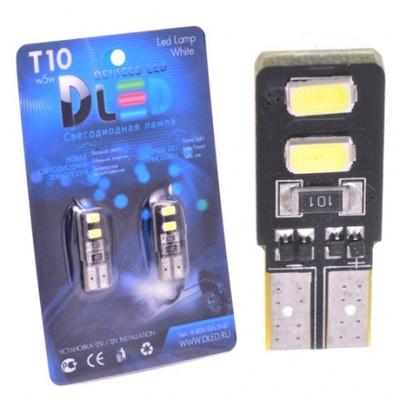 Светодиодная авто лампа W5W T10 – 4 SMD5630 Двусторонняя Обманка 1.6Вт Белая