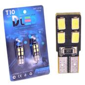 Светодиодная авто лампа W5W T10 – 4 SMD5630 Односторонняя Обманка 1.6Вт Белая