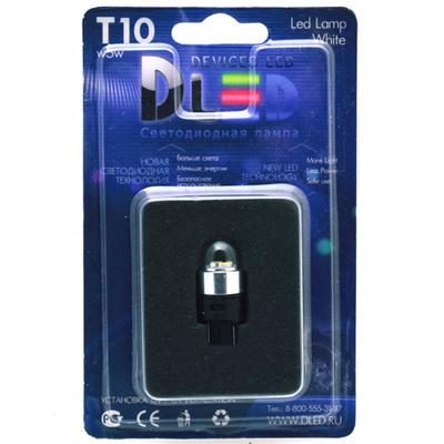 Светодиодная авто лампа W5W T10 – 4 SMD3014 Колба 0.4Вт Белая