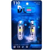 Светодиодная авто лампа W5W T10 – 5 COB Small 9Вт Белая