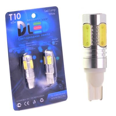 Светодиодная авто лампа W5W T10 – 5 HP 7.5Вт Белая
