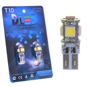 Светодиодная авто лампа W5W T10 – 5 SMD5050 Стабилизатор 1.4Вт Белая