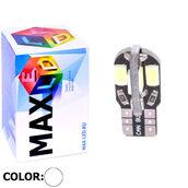 Светодиодная авто лампа W5W T10 – Max-Road A 6Led 3Вт Белая