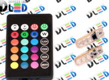 Светодиодная авто лампа W5W T10 – 6 SMD5050 1.4Вт RGB