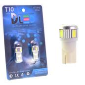 Светодиодная авто лампа W5W T10 – 6 SMD5630 Стабилизатор 2.4Вт Белая