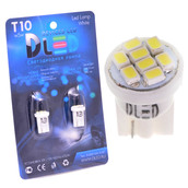Светодиодная авто лампа W5W T10 – 8 SMD1210 0.4Вт Белая