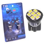 Светодиодная авто лампа W5W T10 – 8 SMD1210 Black 0.4Вт Белая