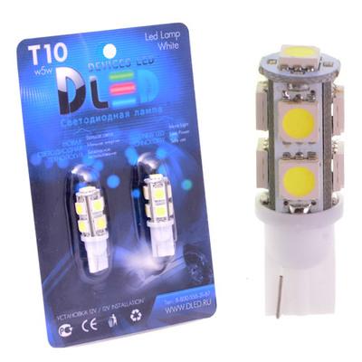 Светодиодная авто лампа W5W T10 – 9 SMD5050 2.16Вт Белая