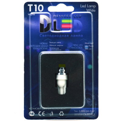 Светодиодная авто лампа W5W T10 – COB 360 3Вт Белая
